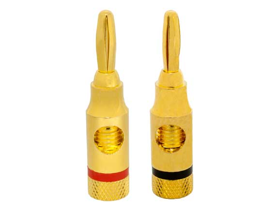 1 Pair of Speaker Banana Plugs Open Screw Type