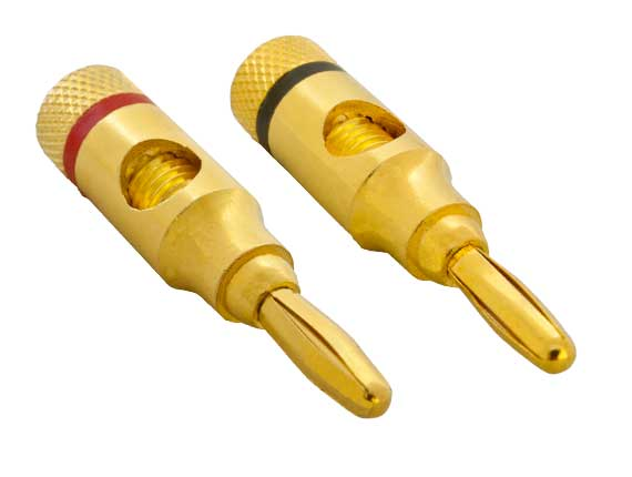 1 Pair of Speaker Banana Plugs, Open Screw Type