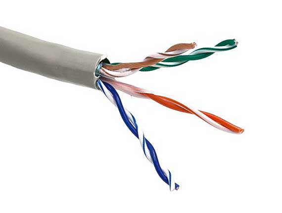 1000ft Cat5e 350 MHz Shielded Solid Bulk Cable Gray