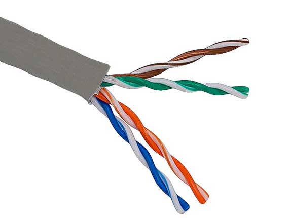 1000ft Cat5e 350 MHz UTP Solid Bulk Cable Riser Rated (CMR) Gray