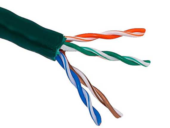 1000ft Cat5e 350 MHz UTP Solid Bulk  Ethernet Bare Copper Cable, Riser Rated (CMR), Green
