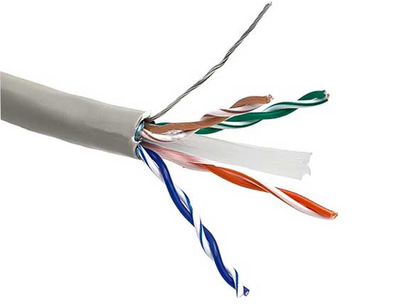 1000ft Cat6 550 MHz Shielded Solid Bulk Cable Gray