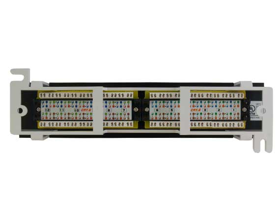12-port Cat6 110 Type Mini Patch Panel