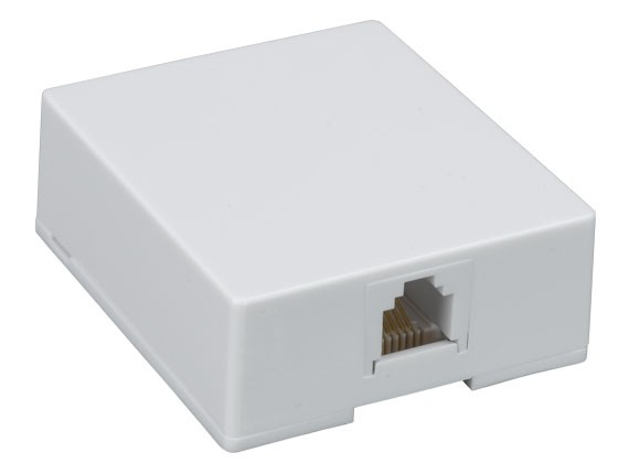 1-port 6P6C Surface Mount Box