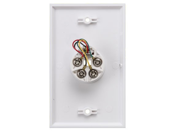 1-Port Wall Plate with 6P4C Jack