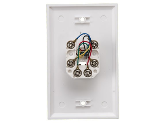 1-Port Wall Plate with 6P6C Jack