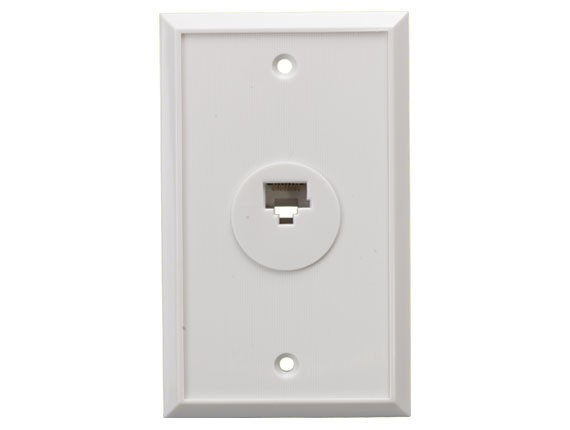 1-Port Wall Plate with 8P8C Jack