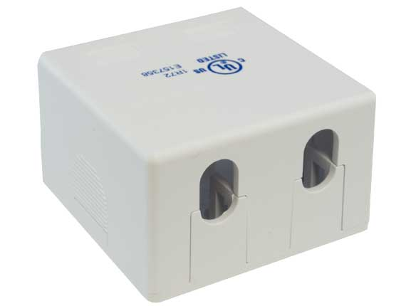 2-port RJ-45 Surface Mount Box