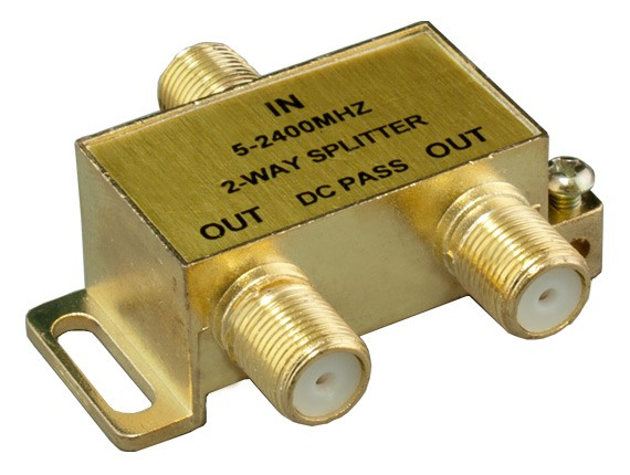 2-way F Type Coaxial Signal Splitter