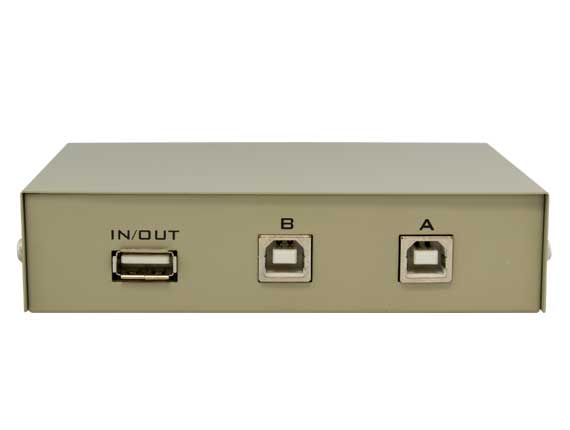 2-way USB 1A2B Manual Data Switch