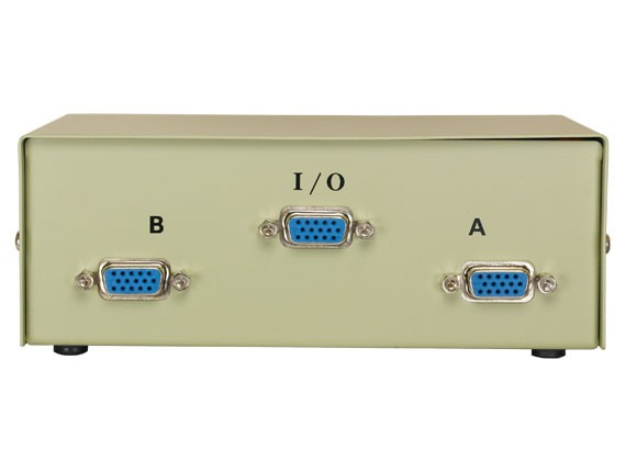 2-way VGA HD15 Manual Data Switch Box