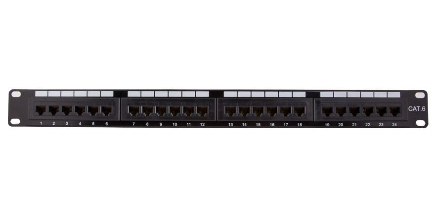 24-port Cat6 110 Type Patch Panel (568 A/B Compatible)