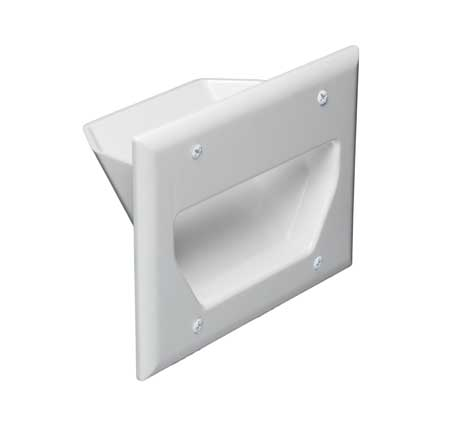 3-Gang Recessed Low Voltage Wall Plate, White