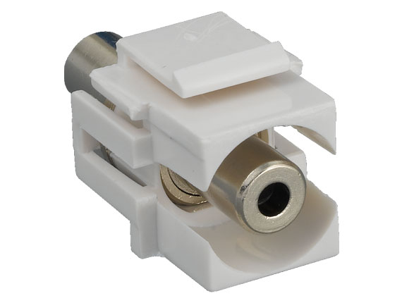 3.5mm F/F Recessed Keystone Insert Module