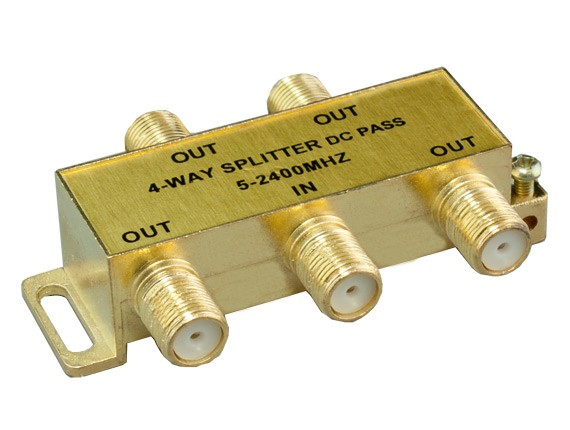 4-way F Type Coaxial Signal Splitter