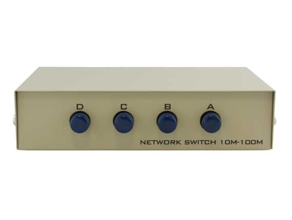 4-way RJ45 Manual Data Switch