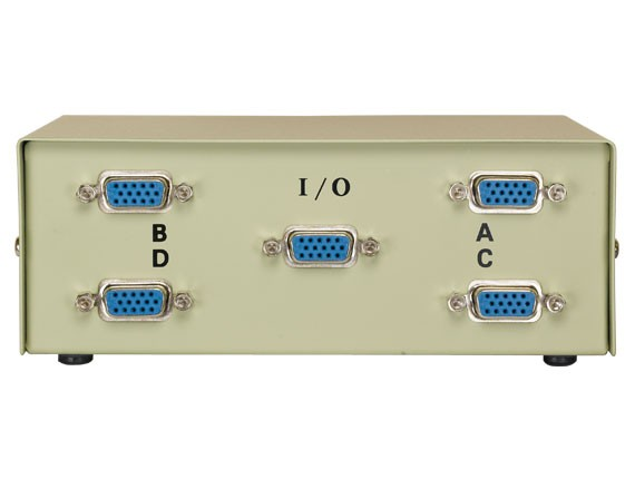 4-way VGA HD15 Manual Data Switch Box