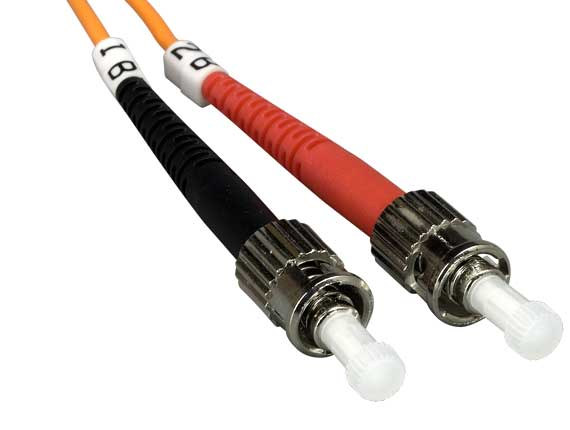 2 Meters ST to ST Duplex 62.5/125 Multimode OM1 Fiber Optic Cable