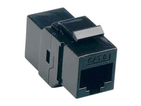 Cat6 Inline Coupler Keystone Type Black
