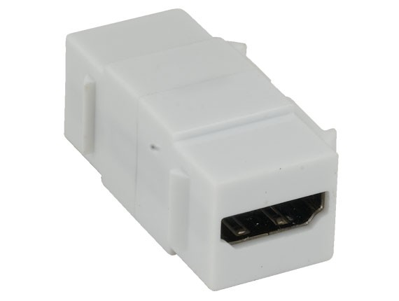 HDMI Keystone Jack Female to Female Coupler Adapter White