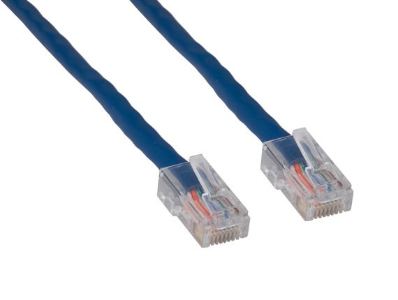 1ft Cat5e 350 MHz UTP Assembled Ethernet Network Patch Cable, Blue