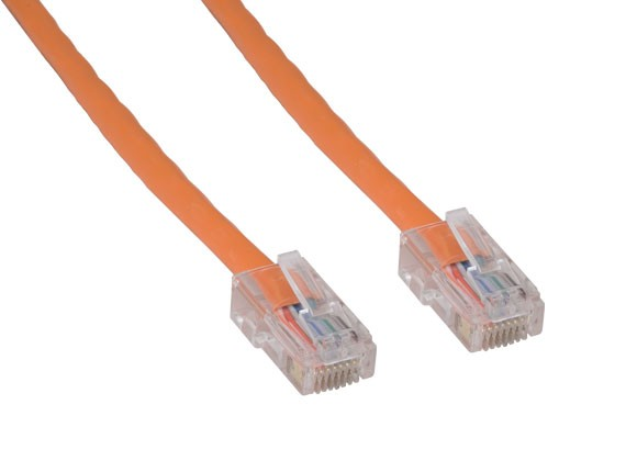 1ft Cat5e 350 MHz UTP Assembled Ethernet Network Patch Cable, Orange