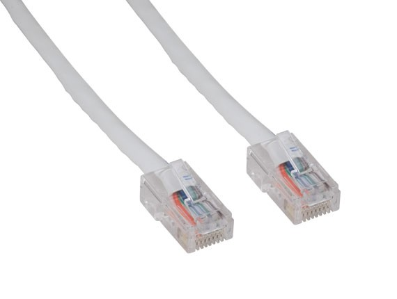 1ft Cat5e 350 MHz UTP Assembled Ethernet Network Patch Cable, White