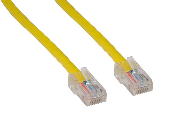 1ft Cat5e 350 MHz UTP Assembled Ethernet Network Patch Cable, Yellow