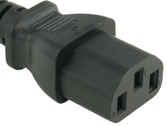 Computer Power Extension Cord IEC320 C13 to IEC320 C14