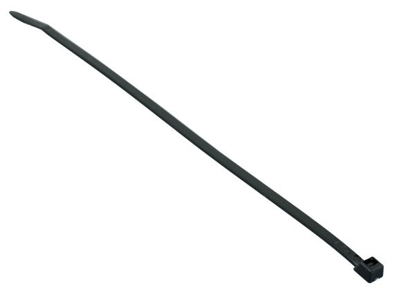 4in Cable Tie (18 lb.) 100pcs/Bag, UV Black