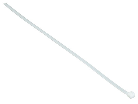 6in Cable Tie (30 lb.) 100pcs/Bag, UL, White Color