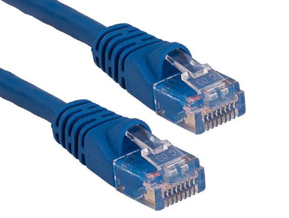 25ft Cat5e 350 MHz UTP Snagless Ethernet Network Patch Cable, Blue