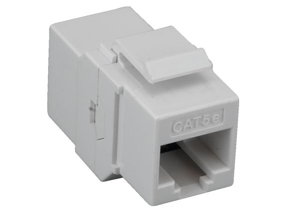 Cat5e Inline Coupler Keystone Type White