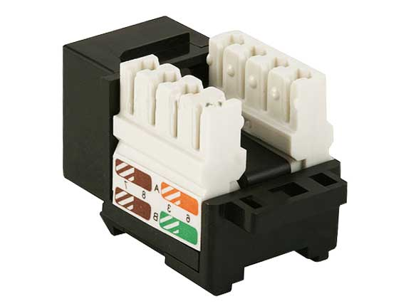 Cat5e RJ45 UTP 110 Type Punch Down Keystone Black