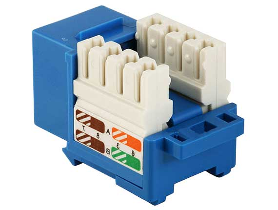 Cat5e RJ45 UTP 110 Type Punch Down Keystone Blue