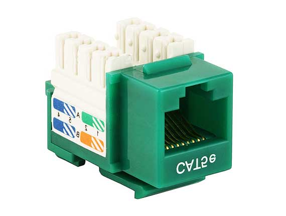 Cat5e RJ45 UTP 110 Type Punch Down Keystone Green