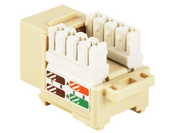 Cat5e RJ45 UTP 110 Type Punch Down Keystone Ivory