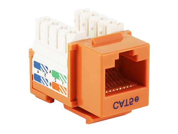 Cat5e RJ45 UTP 110 Type Punch Down Keystone Orange