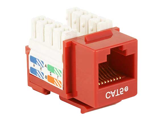 Cat5e RJ45 UTP 110 Type Punch Down Keystone Red