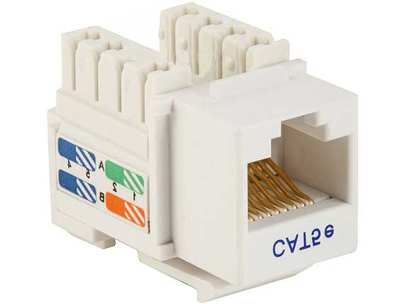 Cat5e RJ45 UTP 110 Type Punch Down Keystone White
