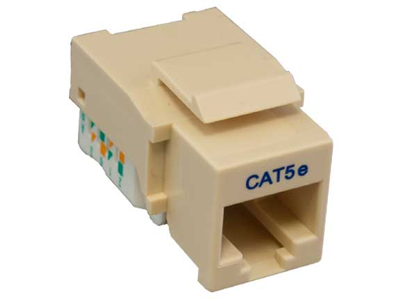 Cat5e RJ45 UTP Tool Less Keystone Jack Beige Color