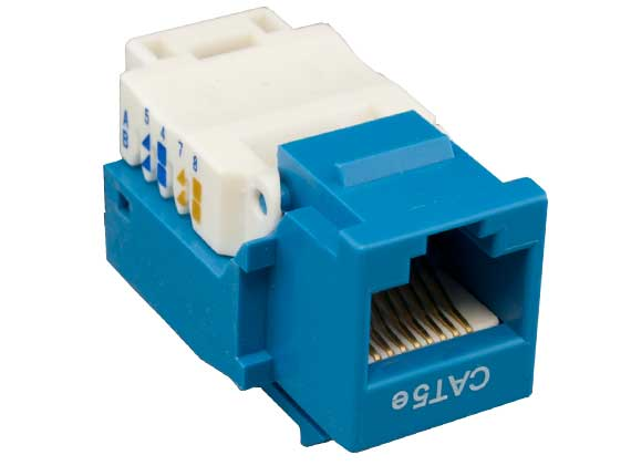 Cat5e RJ45 UTP Tool Less Keystone Jack Blue Color