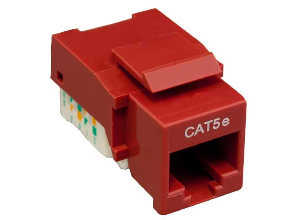 Cat5e RJ45 UTP Tool Less Keystone Jack Red Color