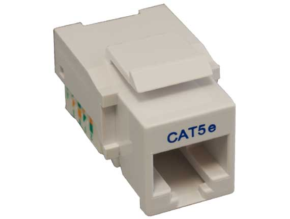 Cat5e RJ45 UTP Tool Less Keystone Jack White Color