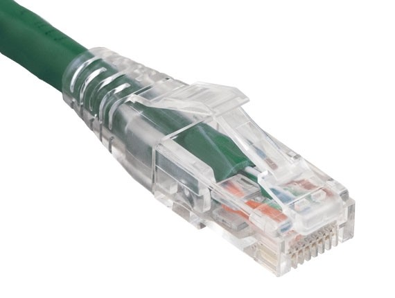10ft Cat6 550 MHz UTP Ethernet Network Patch Cable with Clear Snagless Boot, Green
