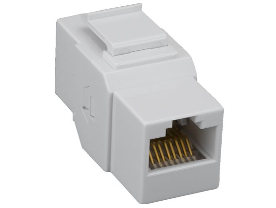 Cat6 Inline Coupler Keystone Type, White