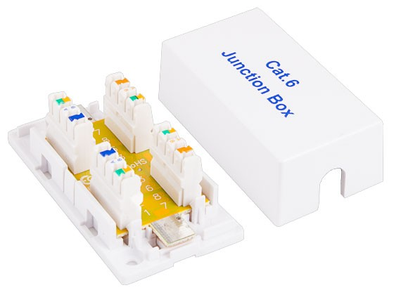 Cat6 Junction Box, 110 Punch Down Style