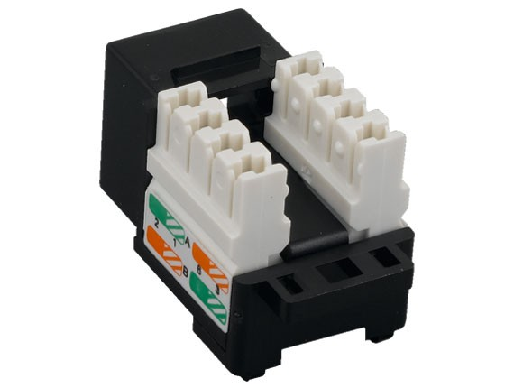 Cat6 RJ45 UTP 110 Type Punch Down Keystone Jack, Black Color