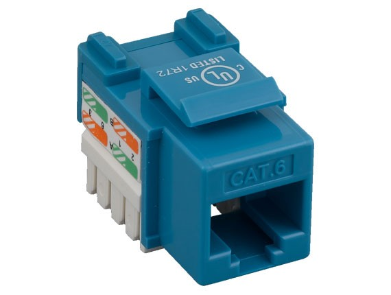 Cat6 RJ45 UTP 110 Type Punch Down Keystone Jack Blue Color