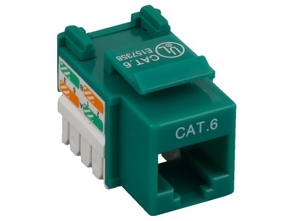 Cat6 RJ45 UTP 110 Type Punch Down Keystone Jack Green Color